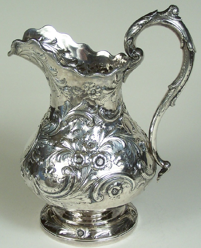 Silver Water Pitcher with Overton Provenance