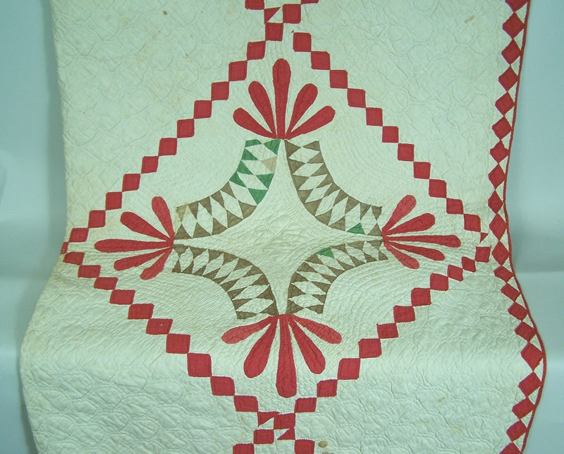 East Tennessee Whig's Defeat pattern quilt, circa 1855 (lot#145)