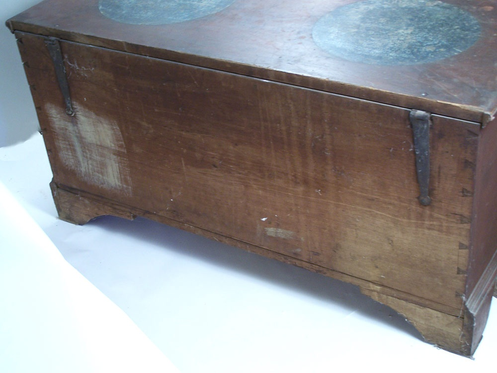 An exceptional and rare paint decorated Wythe County, Virginia blanket chest  (lot#70)
