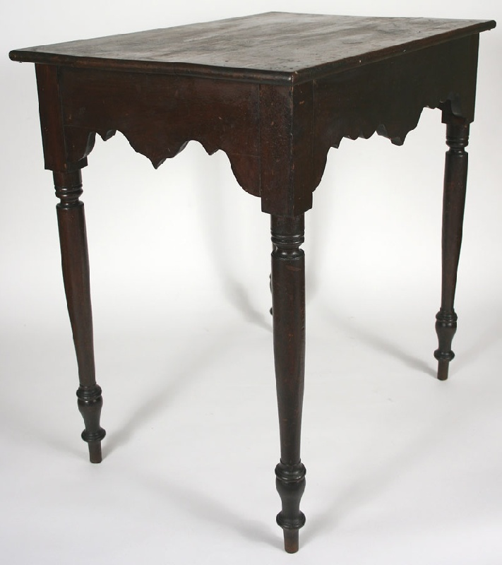 Exceptional Wythe County, VA table with original surface and hidden drawer