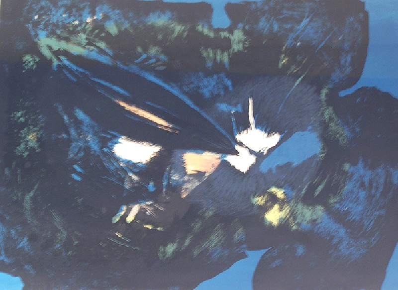 Yoshihara Black Flower Print