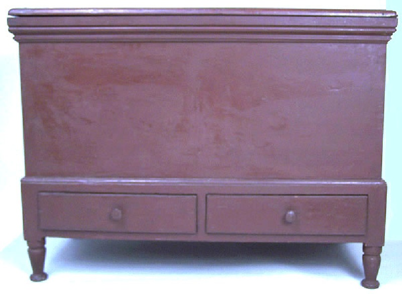 Sheraton two drawer blanket chest, Southern or Mid Atlantic States (lot#213)
