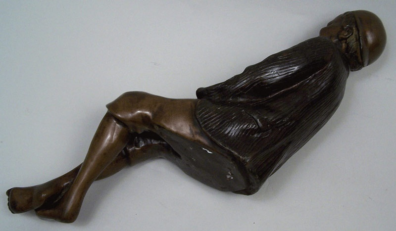 Unsigned bronze of African American boy (lot#255)