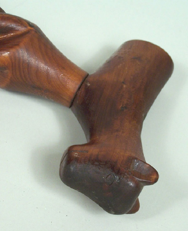 Folk art carved cane, Washington County, Tennessee (lot#103)