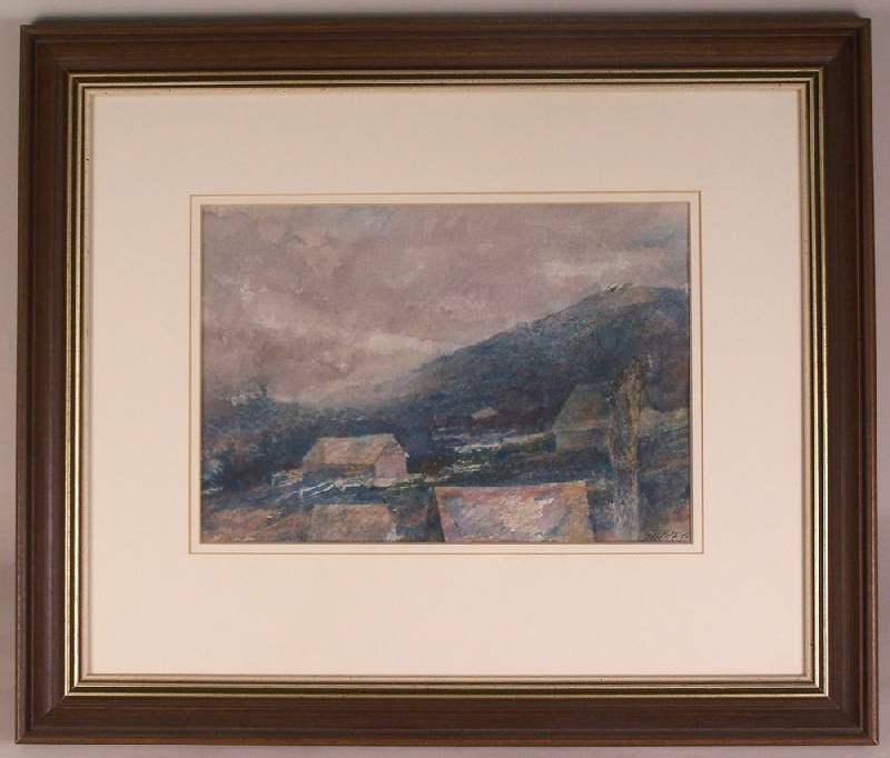 East Tennessee mountain watercolor by Carl Sublett (lot#154)