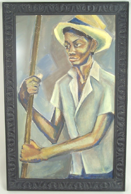 Tennessee painting of African American man, Chattanooga (lot#157)