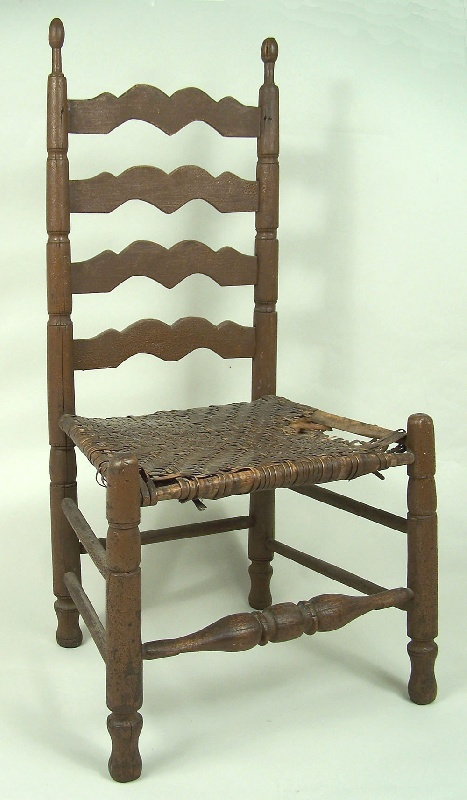 Important turned side chair, Chattanooga, TN or Northern Georgia (lot#129)