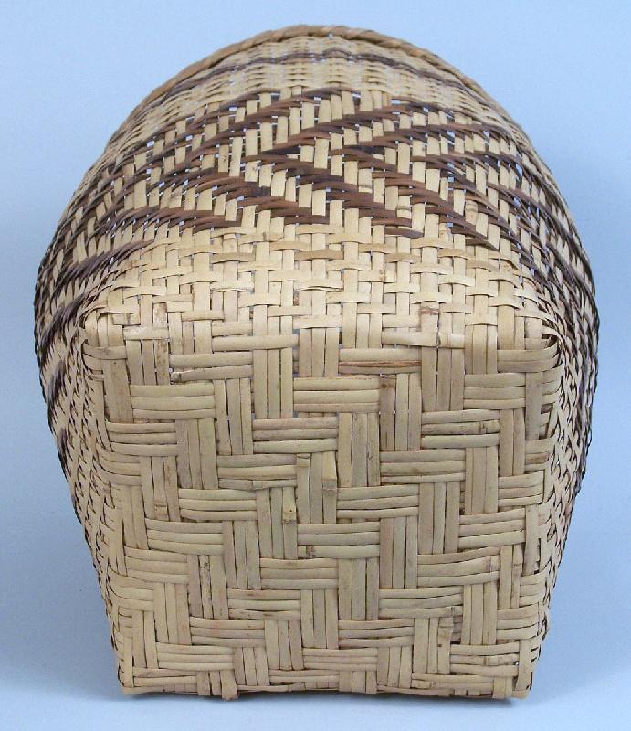 North Carolina river cane basket by Emmaline Garrett (lot#51)