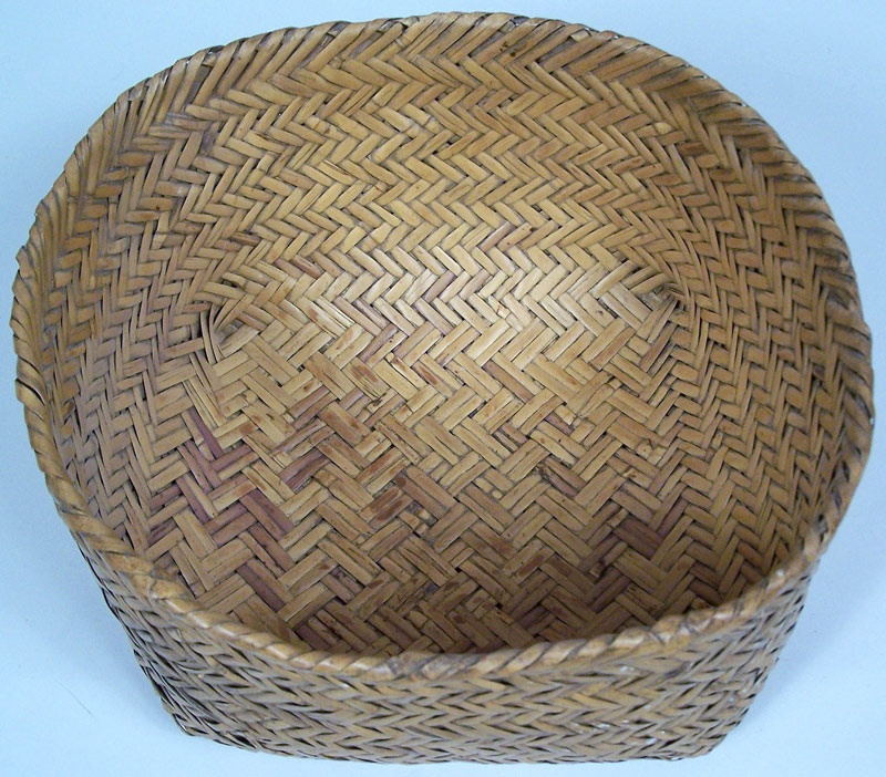 How To Weave A Cane Basket : North carolina cherokee double woven river cane basket