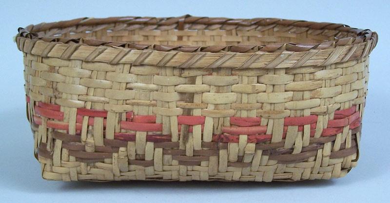 North Carolina Cherokee river cane low basket (lot#56)