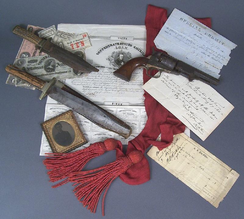 A grouping of Civil War items – Glen Leven Estate