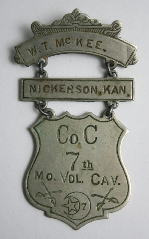 Civil War ladder badge, 7th Calvary.