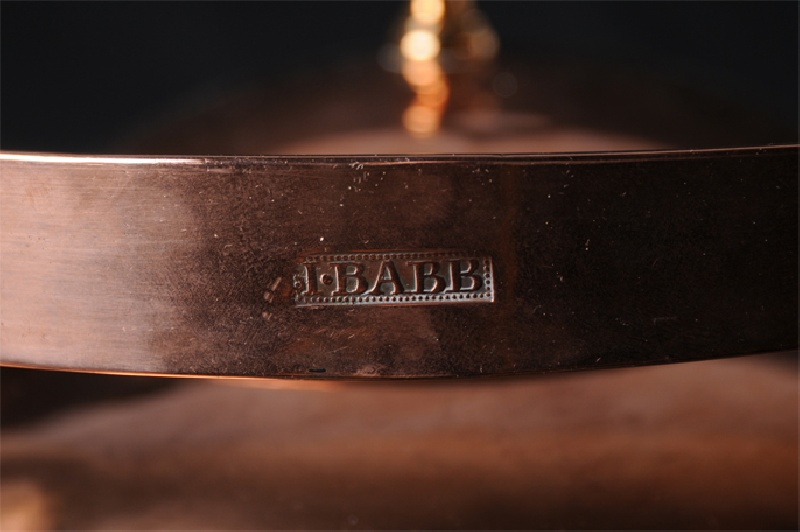 "Southeast Pennsylvania marked copper tea kettle, ""I. Babb"""