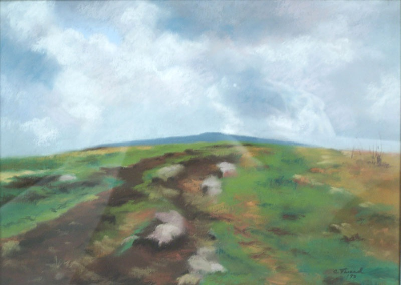 Landscape pastel and gouache by Coralie Tweed (lot#155)