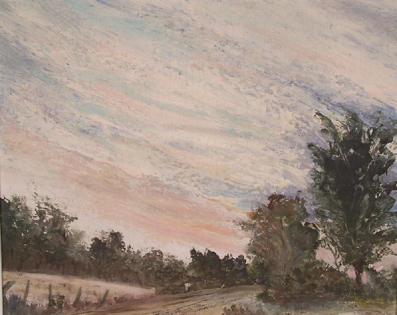 Southern landscape on board, signed C.V. Robinson (lot#183)
