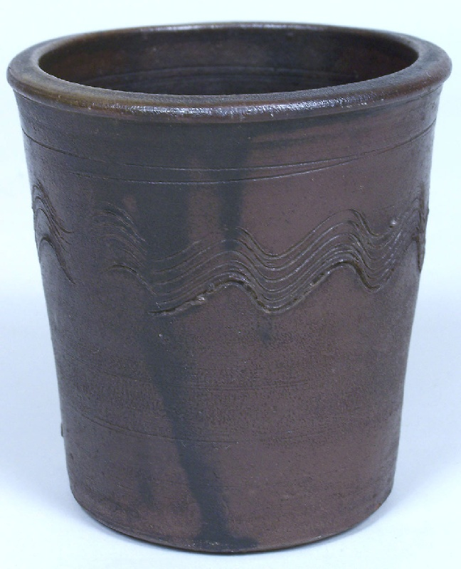 East Tennessee stoneware cup attributed to Charles Decker (lot#98)