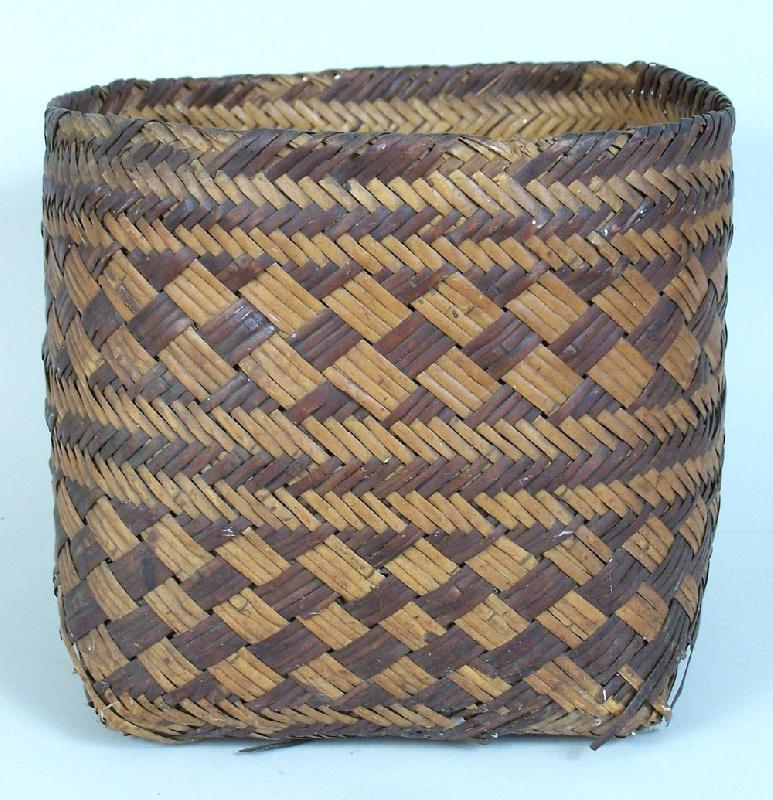 Basket Weaving North Carolina : North carolina early cherokee double river cane basket
