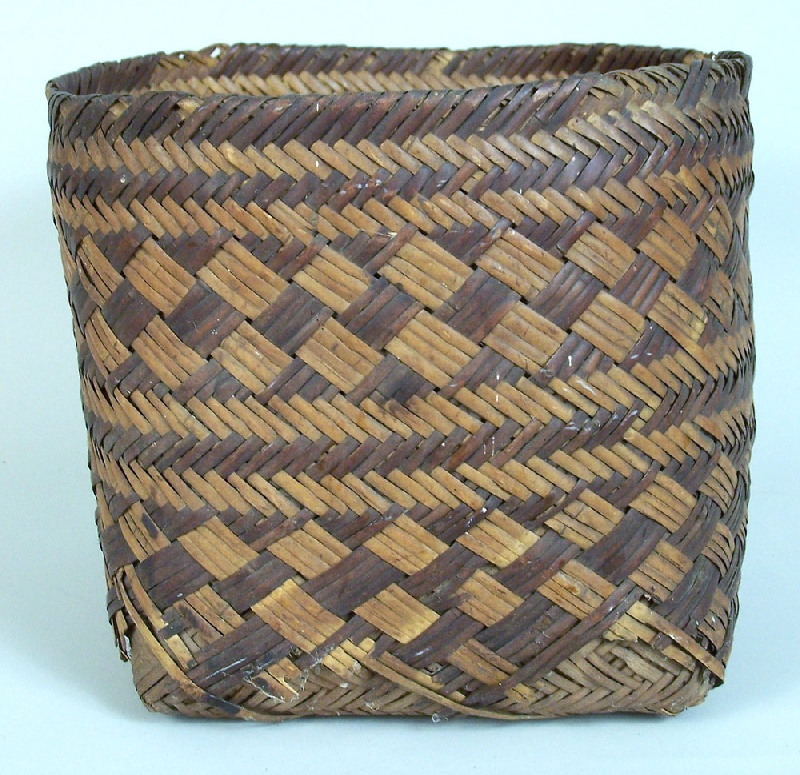 North Carolina early Cherokee double river cane basket (lot#48)