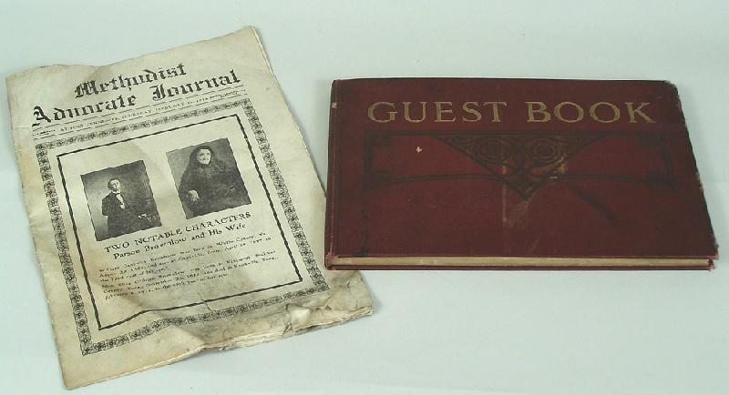 Parson Brownlow's wife, Eliza Ann O'Brien Brownlow, guest book  (lot#21)