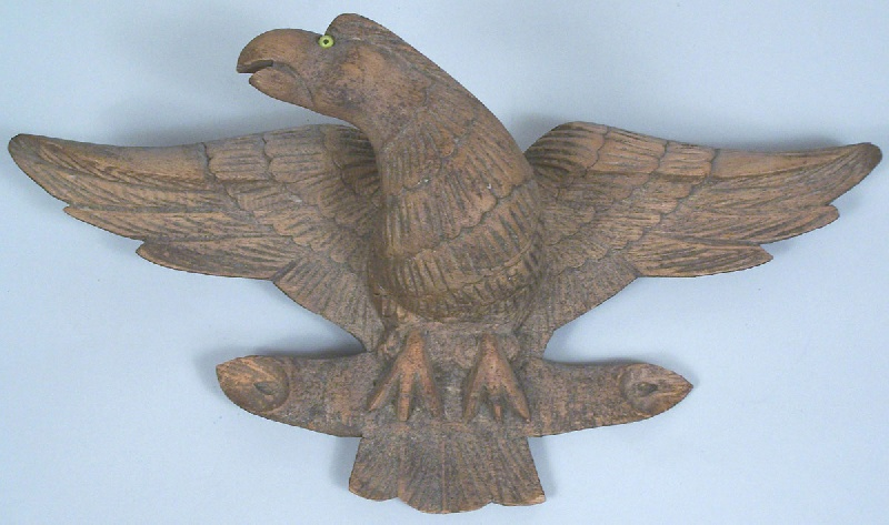 Folk art carved eagle, found in East Tennessee (lot#102)