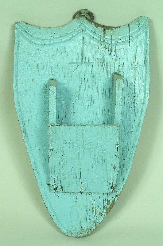 Southern folk art shield pocket (lot#174)