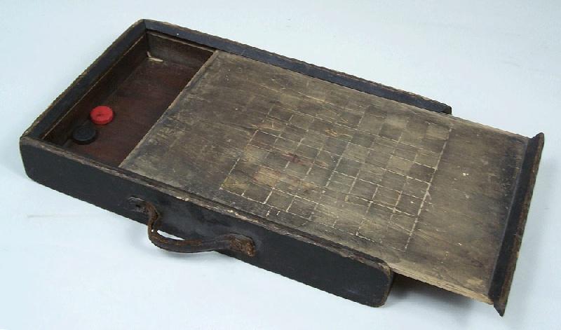Kentucky folk art checkerboard box (lot#85)