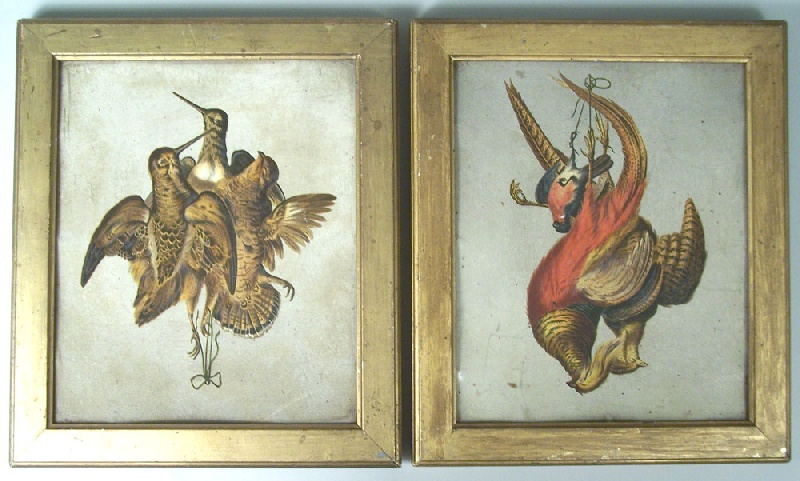 Pair of still life game prints, early to mid 19th century (lot#201)