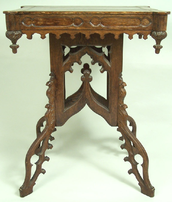 Victorian Gothic table, found in Middle Tennessee (lot#211)