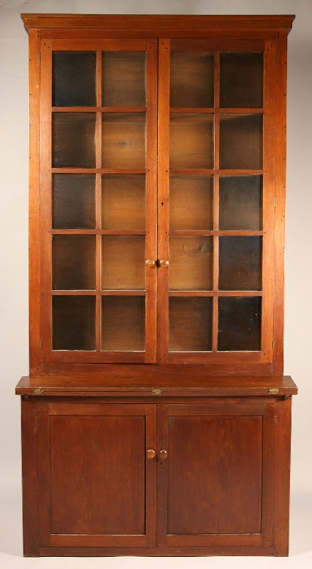 East Tennessee bookcase desk, Greene Co., TN. Provenance – Doughty collection