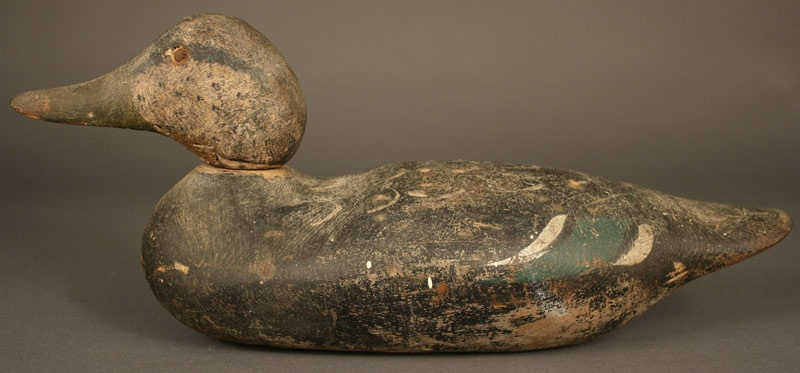 Green winged teal painted duck decoy