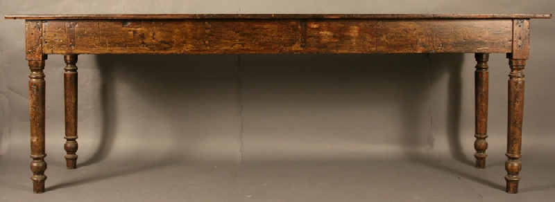 Exceptionally long East Tennessee harvest or refectory table