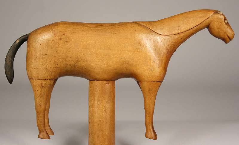 East Tennessee carved horse cane, Greene Co.