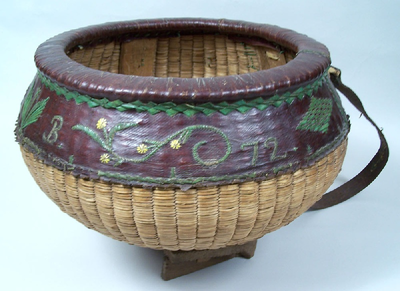 Unusual initialed and dated basket, circa 1872 (lot#264)
