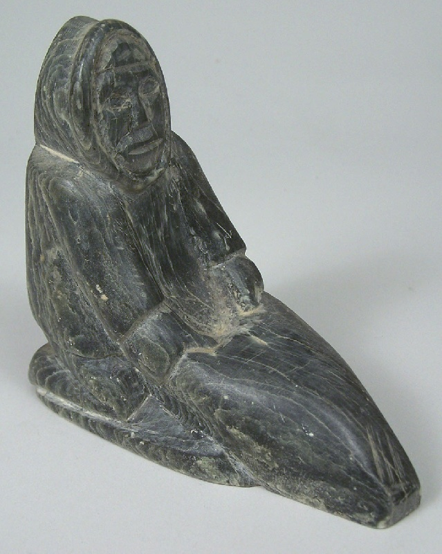 Inuit carvings of man and bird (lot#262)