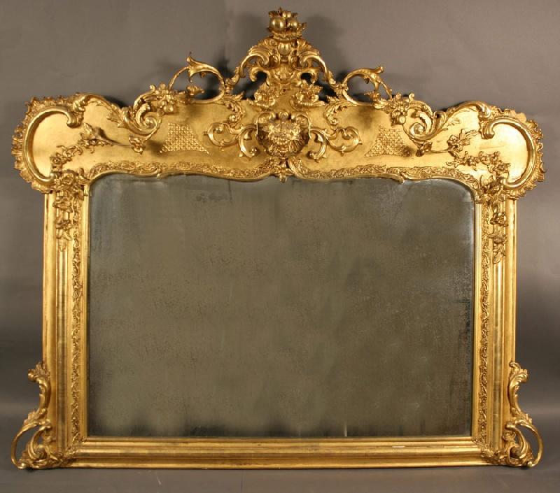 Rococo mantle mirror, Nashville history