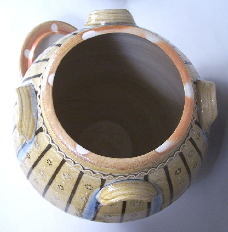 Large North Carolina four handle pottery jar by Matt Jones (lot#217)