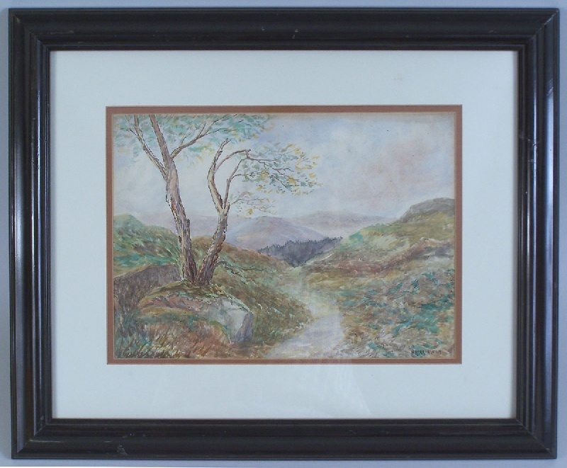 East Tennessee watercolor by Mayna Avent (lot#112)