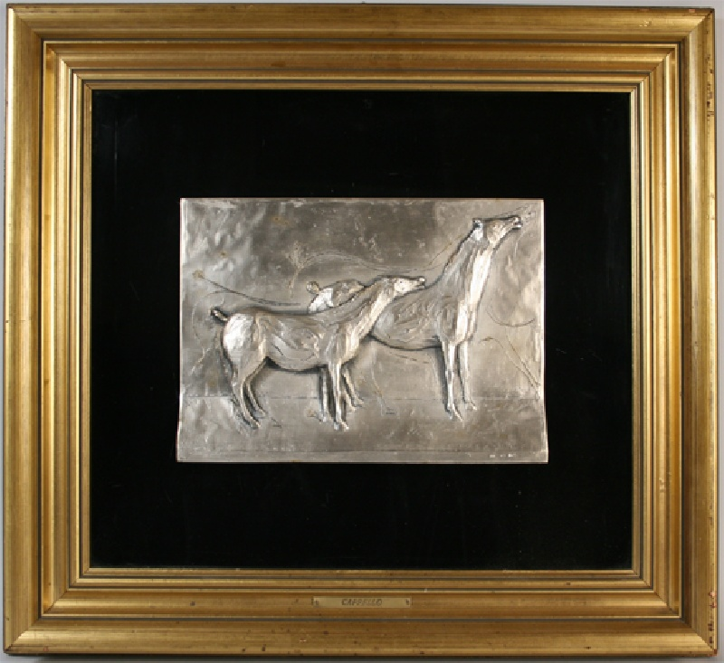 Silver sculpture of horses by Carmelo Cappelo (Italian, 1912-1996)