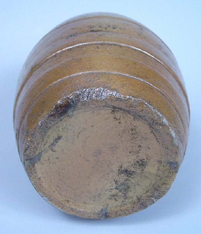 Stoneware rundlet, found in Central Kentucky (lot#214)