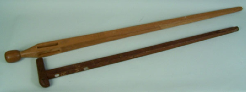 Pair of Middle Tennessee folk art canes (lot#180)