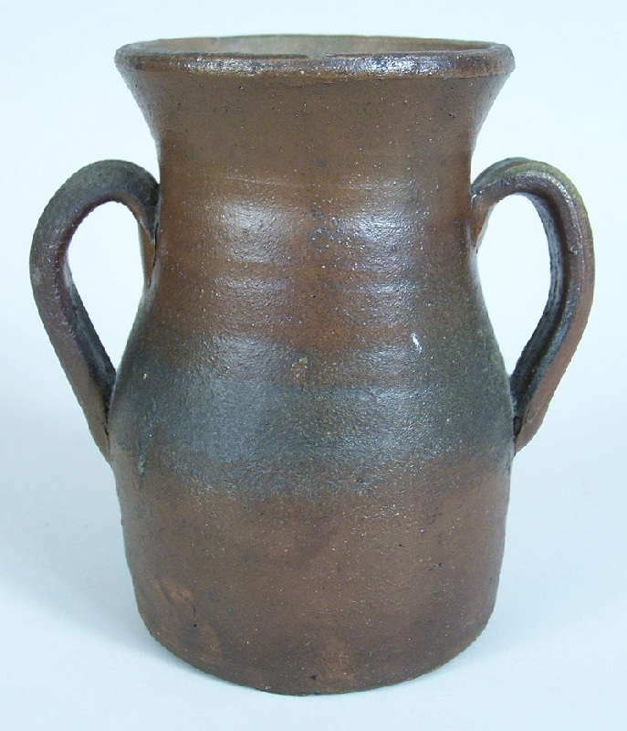 Middle Tennessee stoneware jar, small urn form (lot#17)