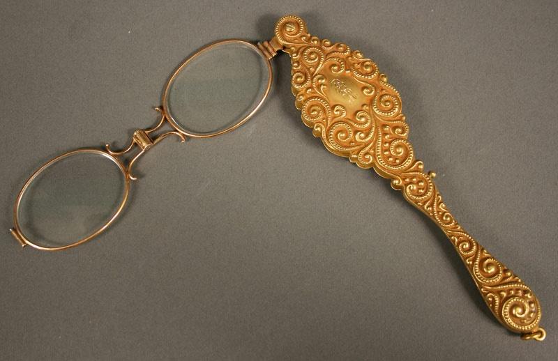 Victorian 14K gold lorgnette