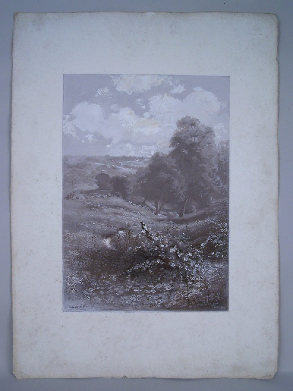 Landscape painting by Connecticut illustrator, Walworth Stilson (lot#195)