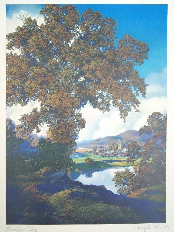 Set of four Maxfield Parrish prints, estate of Walworth Stilson (lot#197)