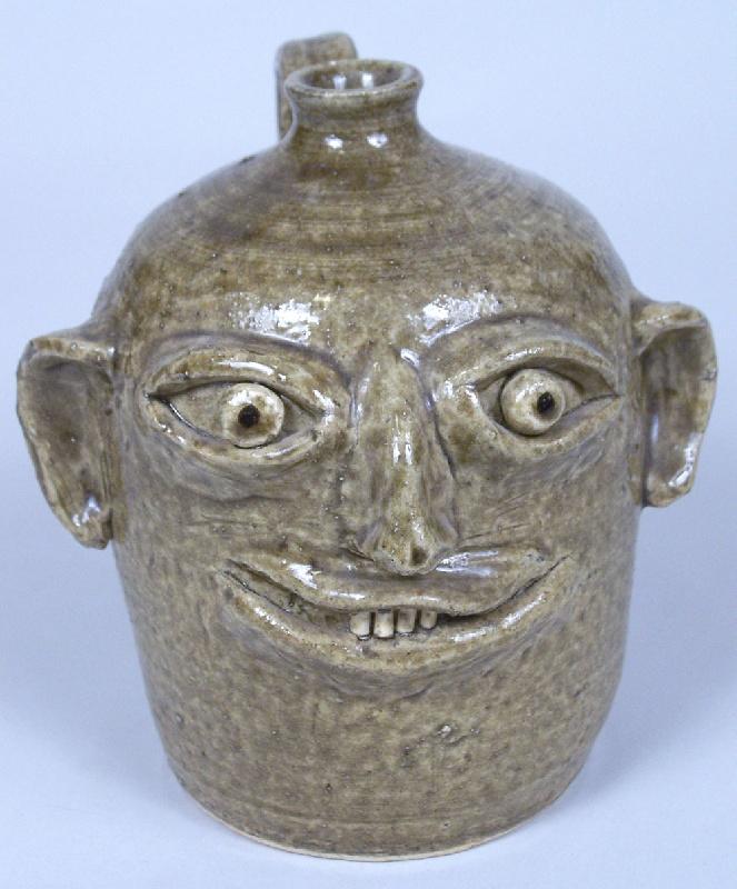 Southern folk pottery face jug by Reggie Meaders (lot#222)