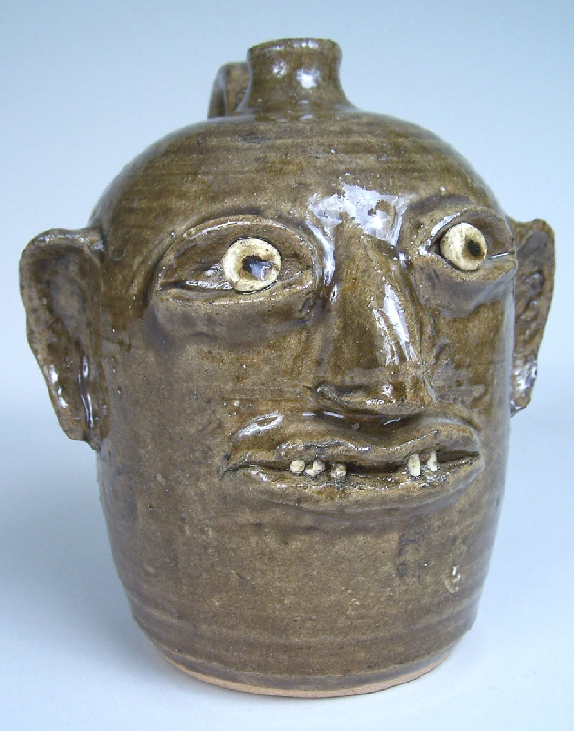 Southern pottery face jug Reggie Meaders (lot#223)