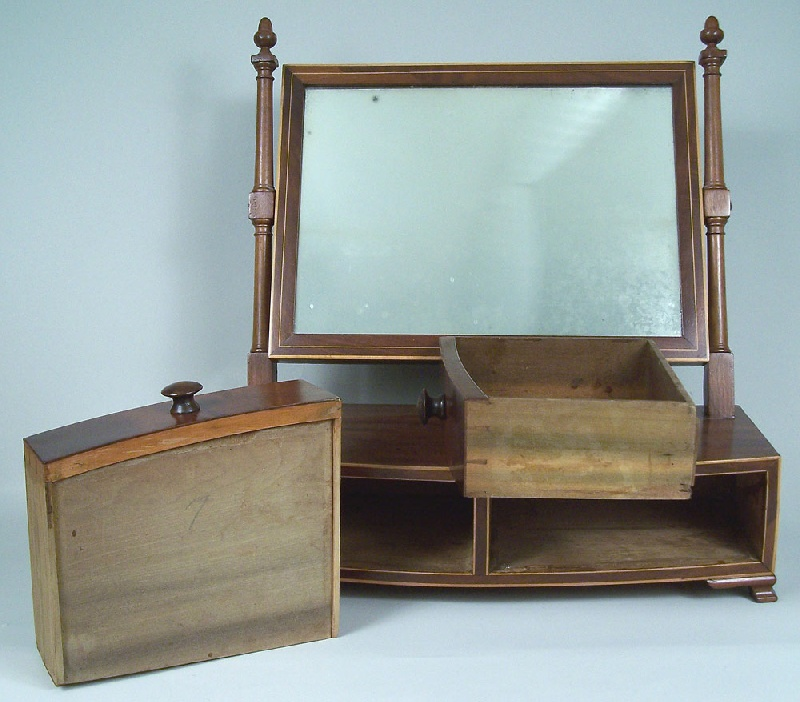 Federal dressing mirror stand with two drawers (lot#208)