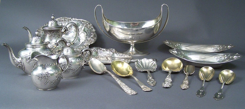 A Grouping of Sterling Silver from the Glen Leven estate