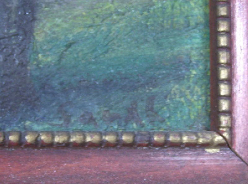 Small impressionist landscape, signed and dated (lot#202)