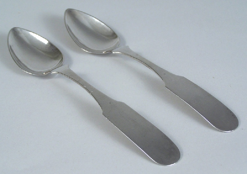 Tennessee coin silver spoons by J. M. Smith (lot#116)